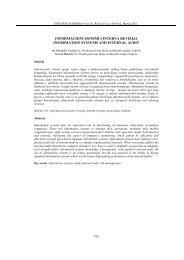 informacioni sistemi i interna revizija information systems ... - Infoteh