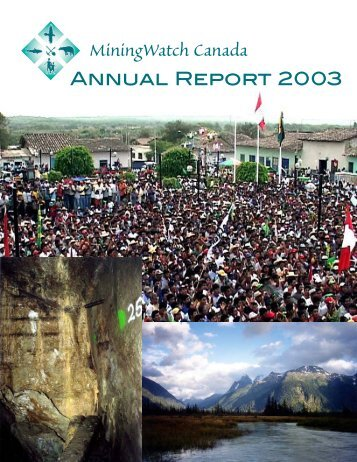 Annual Report 2003 - MiningWatch Canada