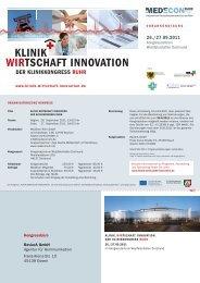 KLINIK WIRTSCHAFT INNOVATION