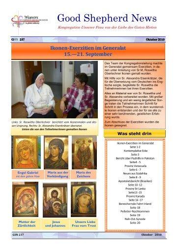 Good Shepherd News - Schwestern vom Guten Hirten