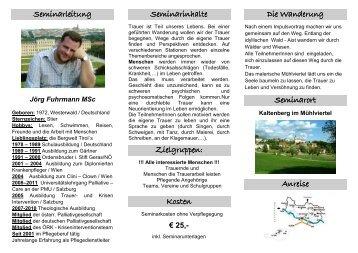 folder erlebnisworkshop trauerwanderung ... - Jörg Fuhrmann