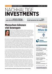 HB Business Briefing Nachhaltige Investments 12_2012