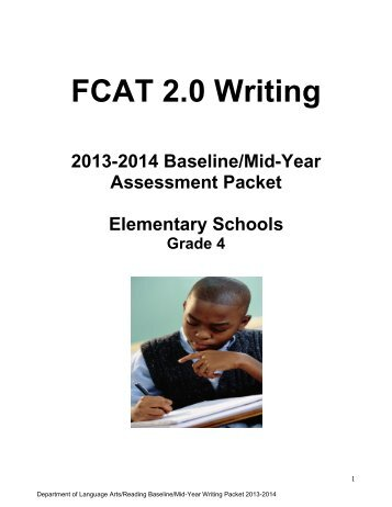 Elementary Packet - Division of Language Arts/Reading