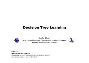 Decision Tree Learning - Berlin Chen