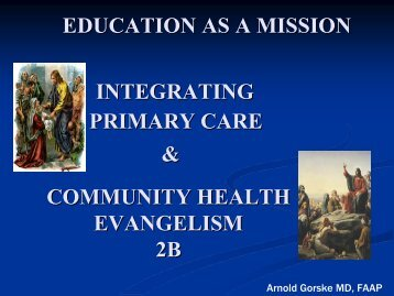 Education as a mission 2B (PDF) - Healthcare Missions Conference