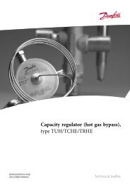 Capacity regulator (hot gas bypass), type TUH/TCHE/TRHE
