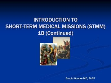 Introduction to Short-term Missions 1B (PDF) - Healthcare Missions ...