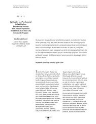 Spirituality and Psychological Rehabilitation (pdf) - Healthcare ...
