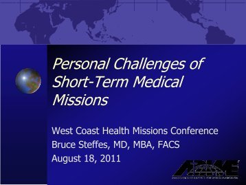 Missions – Portage - Healthcare Missions Conference