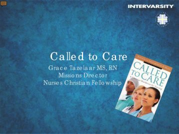 Called to Care - Healthcare Missions Conference