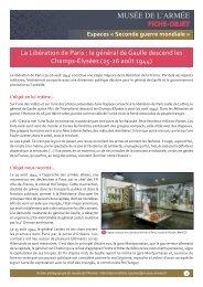le général de Gaulle descend les Champs ... - Musée de l'Armée