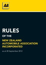 of The New ZealaNd auTomobile associaTioN iNcoRpoRaTed