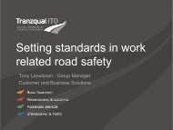 Setting Standards in Work Related Road Safety