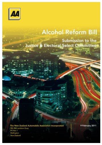 Alcohol Reform Bill - New Zealand Automobile Association