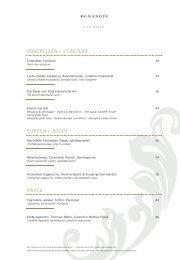vorspeisen – starters suppen – soups pasta - Carlton Hotel St. Moritz