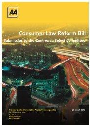 Consumer Law Reform Bill - New Zealand Automobile Association