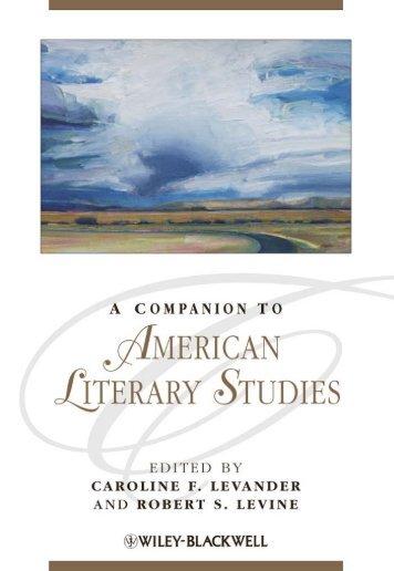 AMERICAN LIT STUDIES LEVANDER