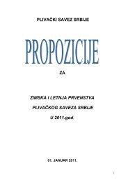 propozicije pss 2011.pdf - Plivački savez Srbije