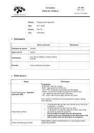 Formulaire PROCES-VERBAL FO 190 Participants Ordre du jour