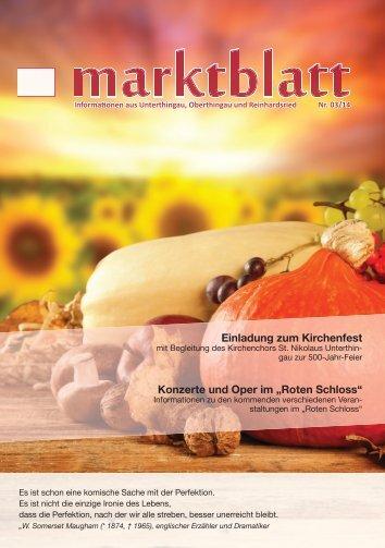 Marktblatt 03 / 2014