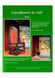 Dépouillement de Noël Les forfaits décor -  Creations 44