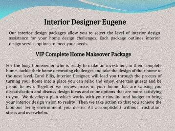 Interior Designer Eugene