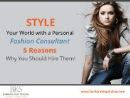 5 Reasons to Hire a Personal Fashion Consultant in FL