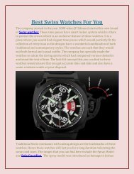 Best Swiss Watches For You - Edmond Watches
