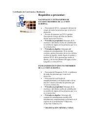 Certificados de Convivencia y Residencia - Villajoyosa