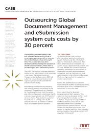 Outsourcing Global Document Management and ... - NNIT