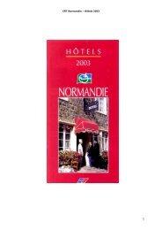 CRT Normandie œ Hôtels 2003 - Deauville meets Deauville 2003