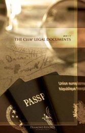 THE CLUb® LEGAL DOCUMENTS - Diamond Resorts International