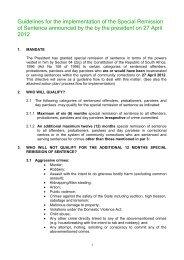 DEPARTEMENT KORREKTIEWE DIENSTE - Correctional Services