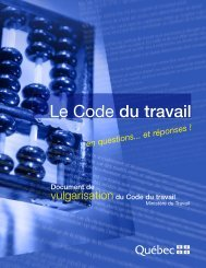 Code du travail du Québec