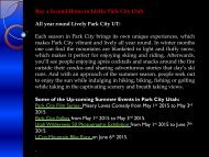 Buy a Second Home in Idyllic Park City Utah