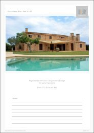 Finca near Artá - Ref. 01-53 - Luxury Holidayhomes on Mallorca