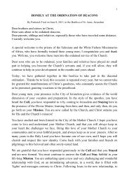 HOMILY AT THE ORDINATION OF DEACONS Dear brothers and ...