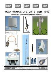 WLAN / WiMAX / LTE / UMTS / GSM / RFID Auszug aus ... - WiMo