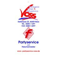 Partyservice - Metzgerei, Hotel & Partyservice Voss in Rees