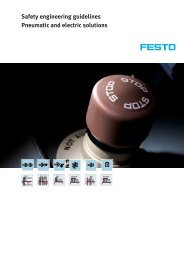 Safety engineering guidelines Pneumatic and electric solutions - Festo