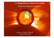 Le Magnétisme interne du Soleil - CEA Saclay