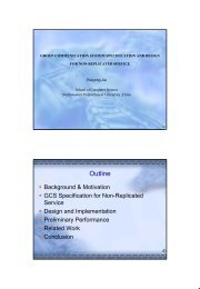 Group Communication System Specification and Design for Non ...
