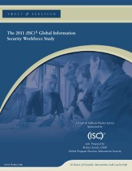 2011 Global Information Security Workforce Study - ISC