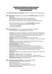 Protokoll des Geschäftsteils der Vollversammlung der ...