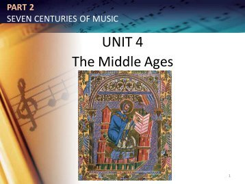 PART 2 SEVEN CENTURIES OF MUSIC