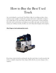 How to Buy the Best Used Truck