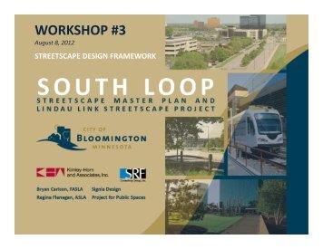Streetscape design framework - City of Bloomington