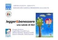relazione Ulss 8 su evidenze scientifiche dei benefici della lettura