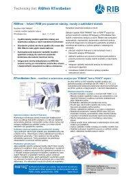Technický list RTerdbeben - RIB stavební software sro