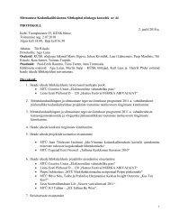 Nõukogu koosoleku protokoll nr 44, 02. juuli. 2010 - KÜSK